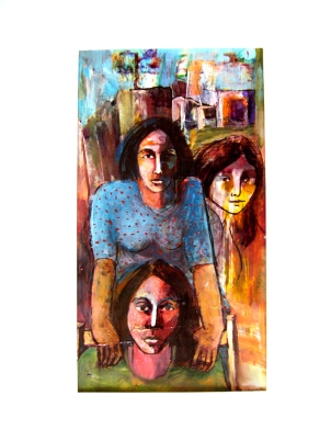 This painting was created by a former woman political prisoner from Iran.